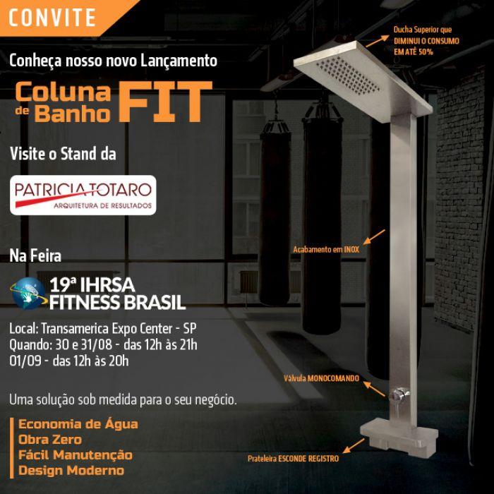 Pretty Jet na Feira 19ª IHRSA Fitness Brasil no Stand de Patricia Totaro